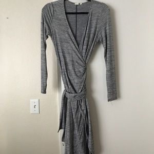 GAP Dresses - Gap sweater wrap tie blue and white striped dress